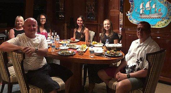 Hilton Head Yacht Charter Salon Dinner