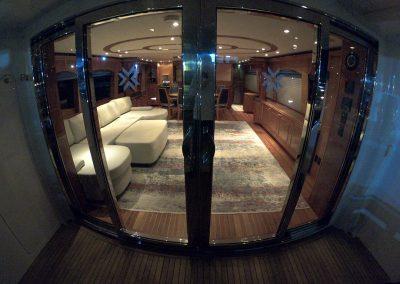 Hilton Head Yacht Charter: Top Shelf Salon Door