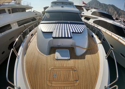 Hilton Head Yacht Charter's Top Shelf's Bow Area Looking Aft
