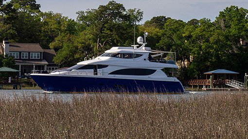 Hilton Head Yacht Charter's Top Shelf on the ICW